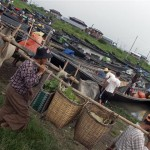 People carry their produce to market at Inle Lake © Gemima Harvey 2012